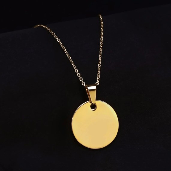 Circle Custom Nameplate Pendant Gold Silver Rose Gold Name Necklace