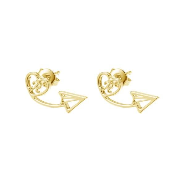 Custom Letter Beautiful Dangle Letter Arrow Head Earrings For Women