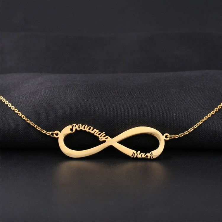 Infinity Custom Nameplate Pendant For Women Four Name Necklace My Name Infinity Pendant