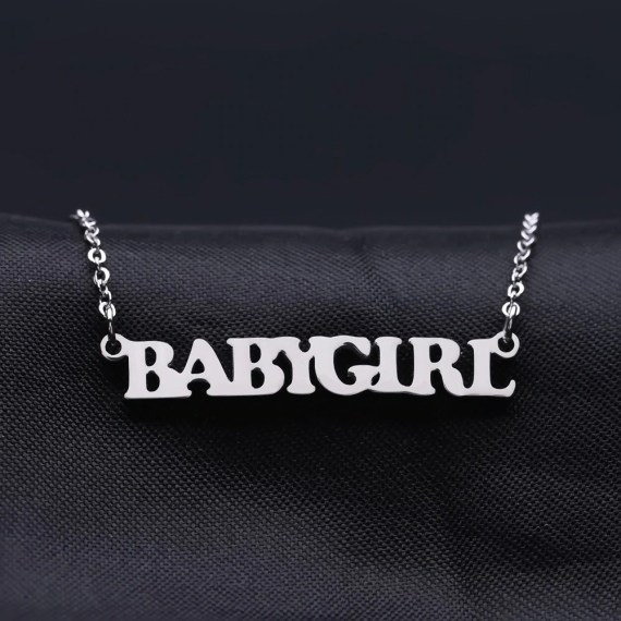 Silver Color Name Necklace My Name Necklace Shine Name Necklace For Women