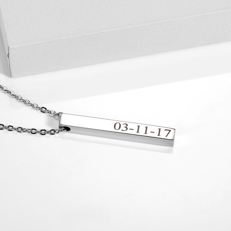 custom names personalized four name necklace with chain