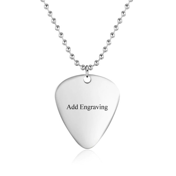 Guitar Player Paddle Name Necklace Beautiful Name Necklace With Name Of Music Lover Guitar Player
