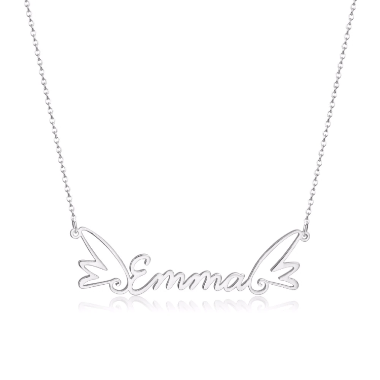 Regular Use Custom My Name Necklace Shine Nameplate Pendant Necklace Gold Plated Beautiful Name Necklace For Angel Blessings