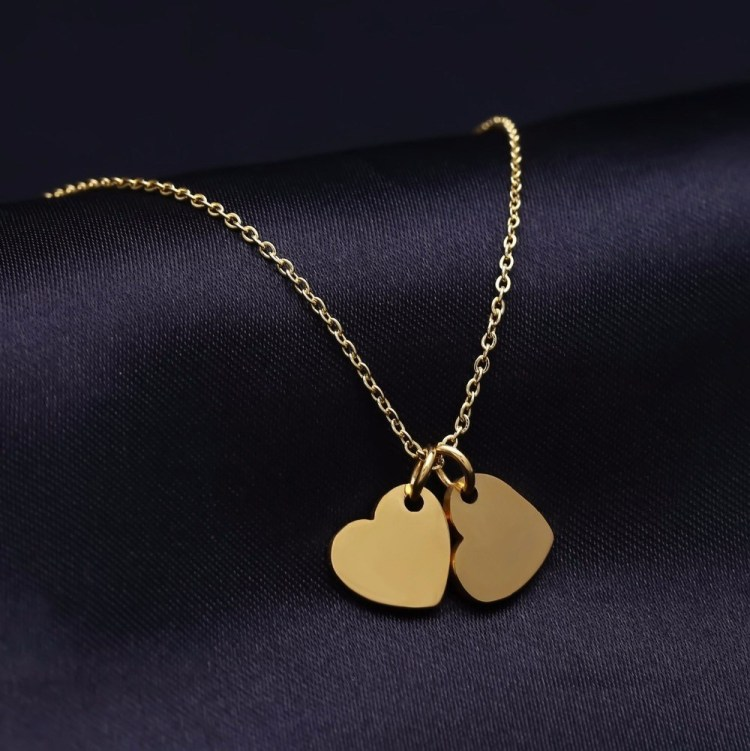 Shine Custom Nameplate Pendant Necklace For Women Ladies Heart Name Necklace Beautiful Name Necklace Gold Silver Heart Shaped Necklace Pendant