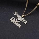 girlfriend boyfriend crystal necklace