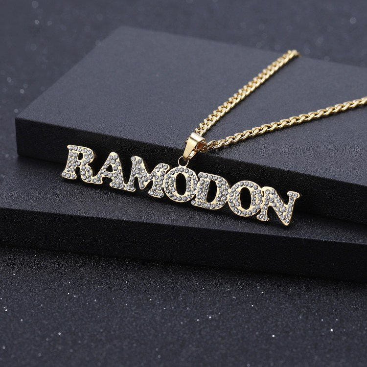 iced out name necklace