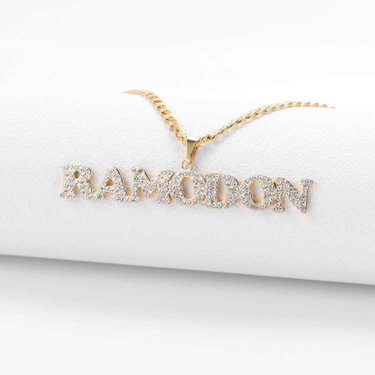 iced out design name necklace