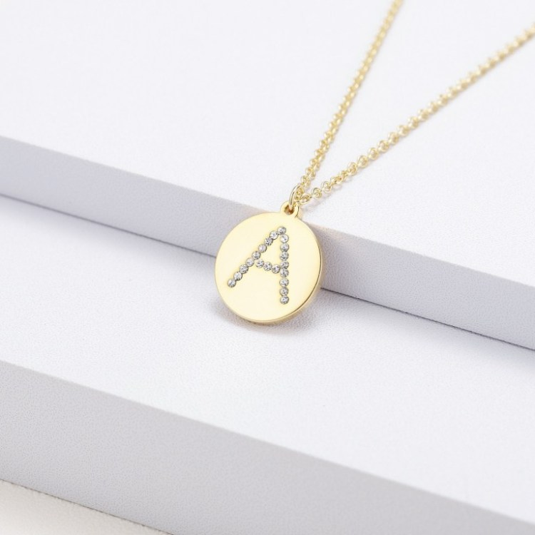 English Single Letter A B C D Custom Any Initial Necklace For Women