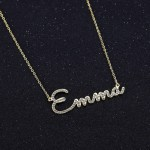 Cursive Bespoke Name Necklace Link Chain Necklace