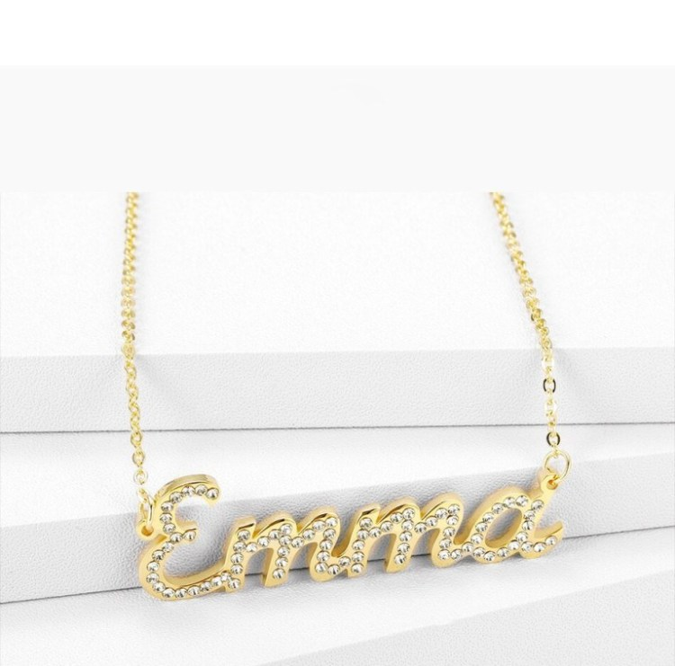 Emma Simple Name Necklace Beceff High Quality Jewelry