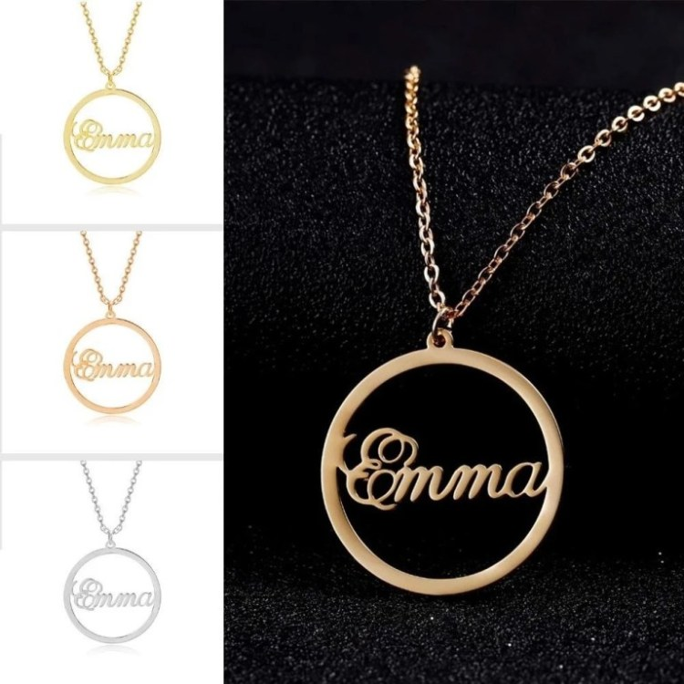 Gold Silver Rose Gold Best Quality Name Necklaces For Women