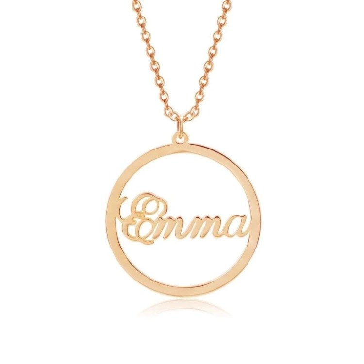 Rose Gold Shine Name Necklace For Ladies Girls Cuties