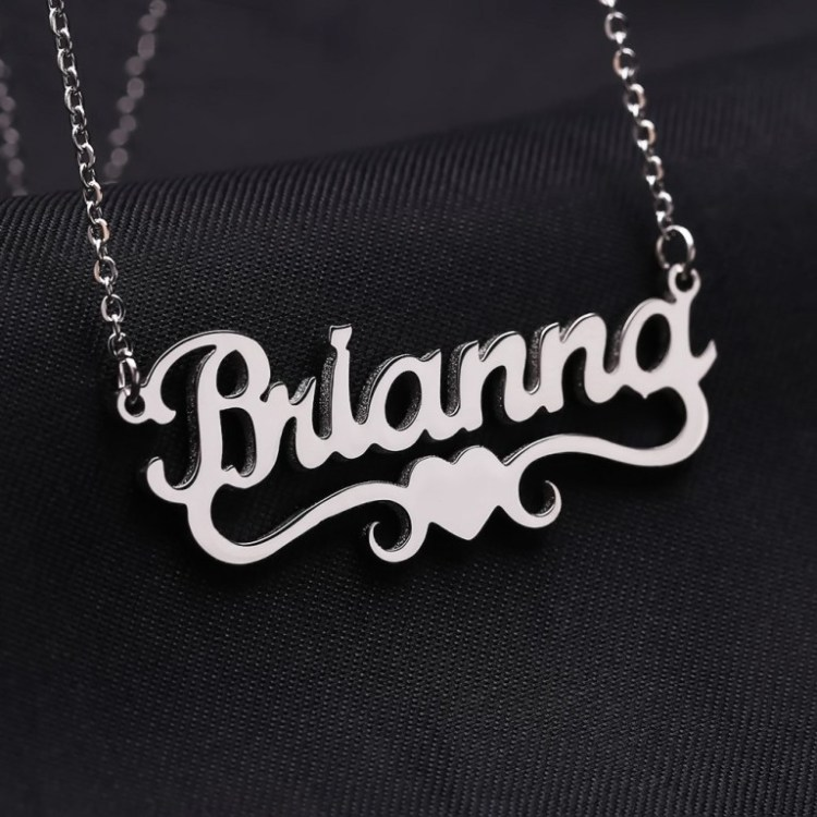 Silver High Quality Durable Name Necklace For Ladies