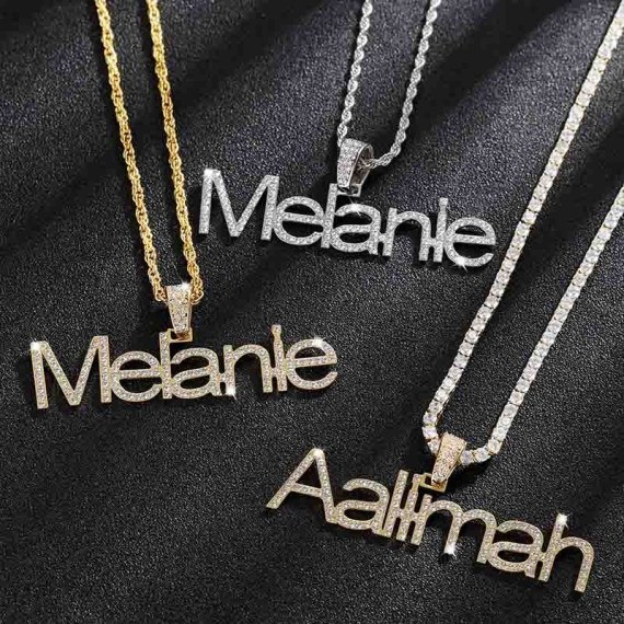 personlized hip hop style iced out crystal tennis chain custom jewelry for men and women