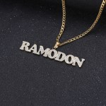 sparkling iced out name jewelry nameplate personalized
