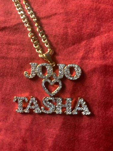Sparkling Couple Name Necklace photo review