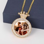 Crown Photo Necklace for Women Custom Personalized Gift Ideas
