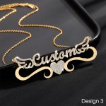 beautiful crystal angel wings personalized custom name necklace