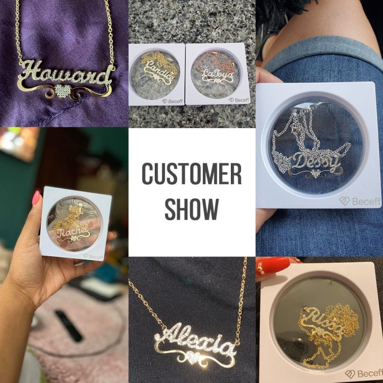 Personalized Crystal Sparkling Name Necklace Beceff Customer Reviews