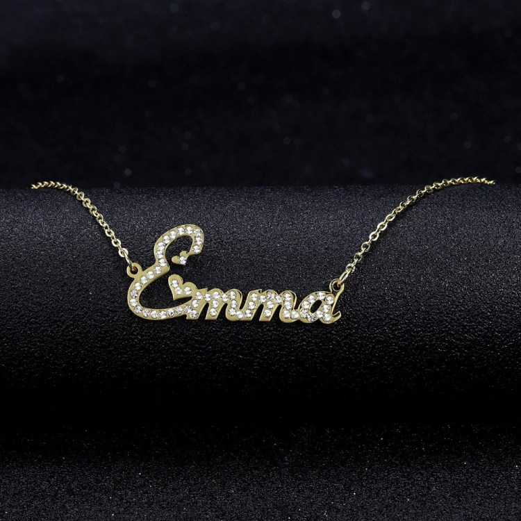 cute hearts name necklace daughter