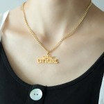 custom crown name women necklace
