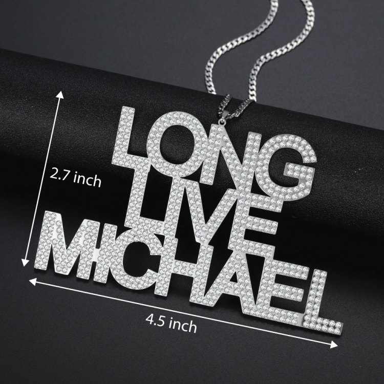 large size live long michael personalized custom pendant nameplate necklace for men hip hop jewelry