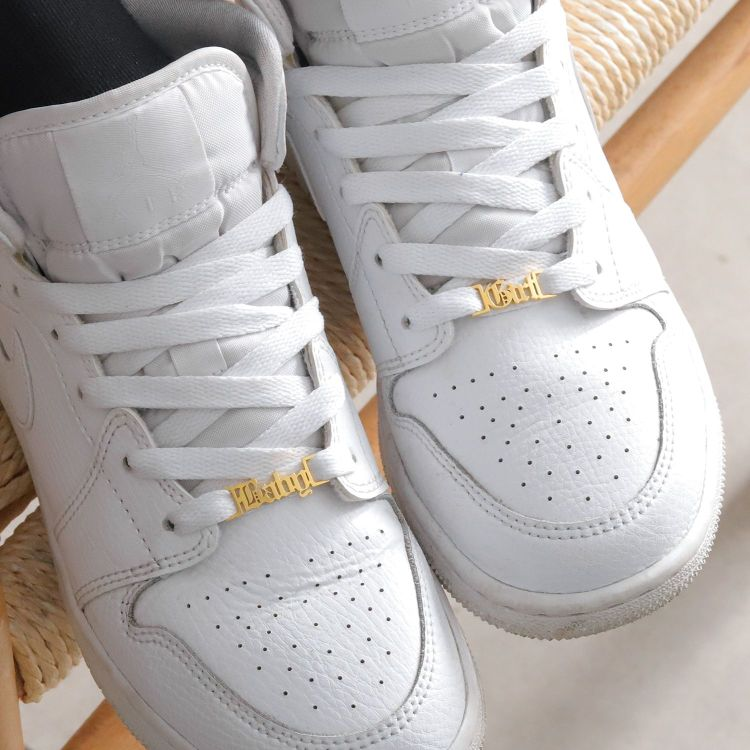 personalized shoelace buckle gold stainless steel hip hop fashion custom personalized items