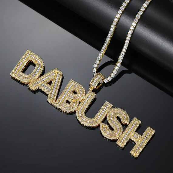 Custom Iced Design Usa Made Personalized Name Necklace For Men Women Bling Superior Expensive Fully Crystal Inlaid