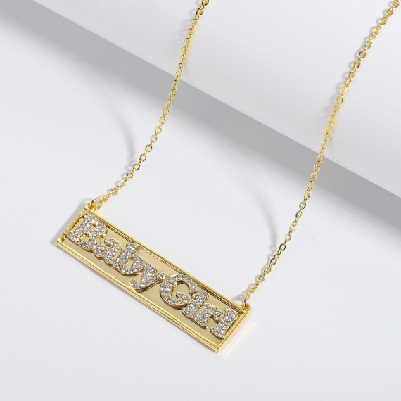 Personalized choker iced out sparkling 3d engraved name necklace women men gift