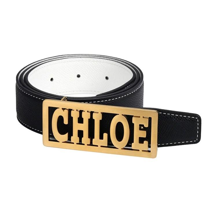 CHLOE belt buckle style custom name design