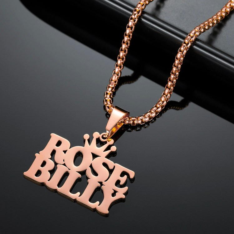 Rose Gold Color Plated Custom Name Necklace Personalized Shine Name Necklace Multiple Lines Names Necklace High Quality Jewelry For Ladies