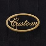gold color cursive custom name belt buckle for men women unisex