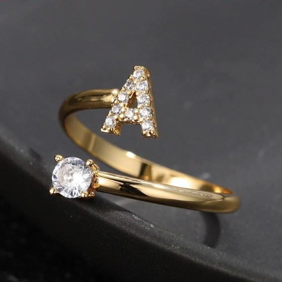 Crystal Custom Name Ring For Teenage Girls Cute Jewelry Wear For Women