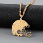 Gold Custom Name Necklace For Men Premium Quality Name Necklace American Football Player Necklace Unique Jewelry For Men