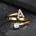 Initial English Letter Ring For Crystal Name Jewelry Lovers Personalized Jewelry