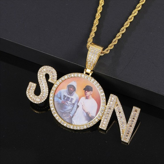 Hip Hop Casual Photo Frame Name Necklace From Beceff Personalized Casual Name Necklace For Daily Outfits And Wears High Quality Photo Frame Name Necklace In Gold Silver Rose Gold Colors