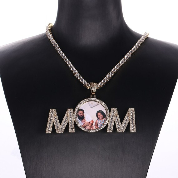 Premium Quality Stainless Steel Gold Color Plated Custom Photo Necklace From Beceff High Quality Personalized Jewelry Photo Necklace For Casual Wears Women's Personalized Jewelry