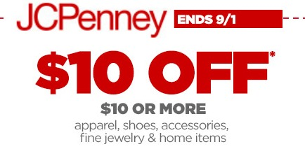 JCPenney Labor Day Coupon 10 Off 10