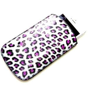 Mobiel hoesje Leopard paars