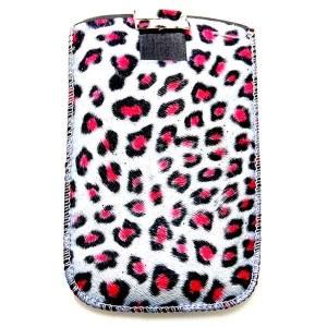 Mobiel hoesje Leopard rood