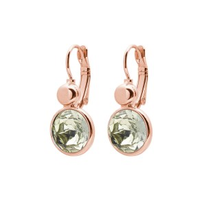 Biba oorbel rosegold Light green