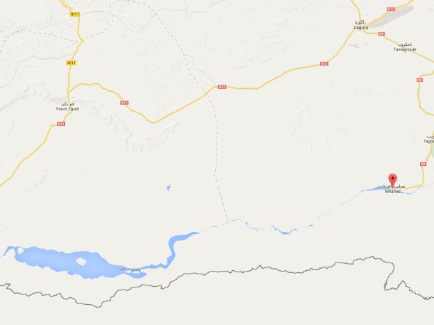 Karte: Zagora - Mhamid - Foum Zhguid
