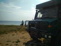 Stellplatz auf Landzunge bei Igoumenitsa