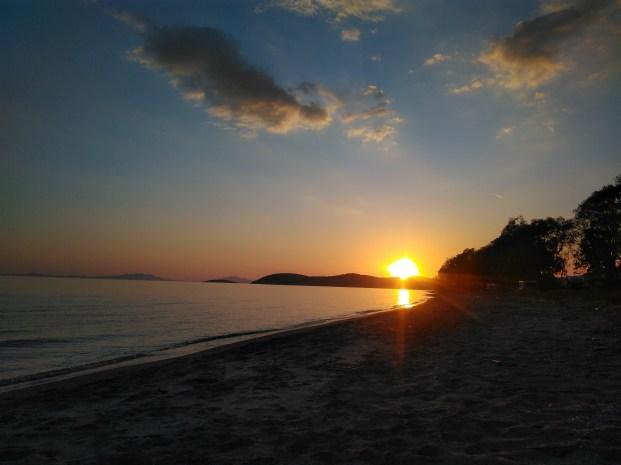 Sonnenuntergang bei Igoumenitsa