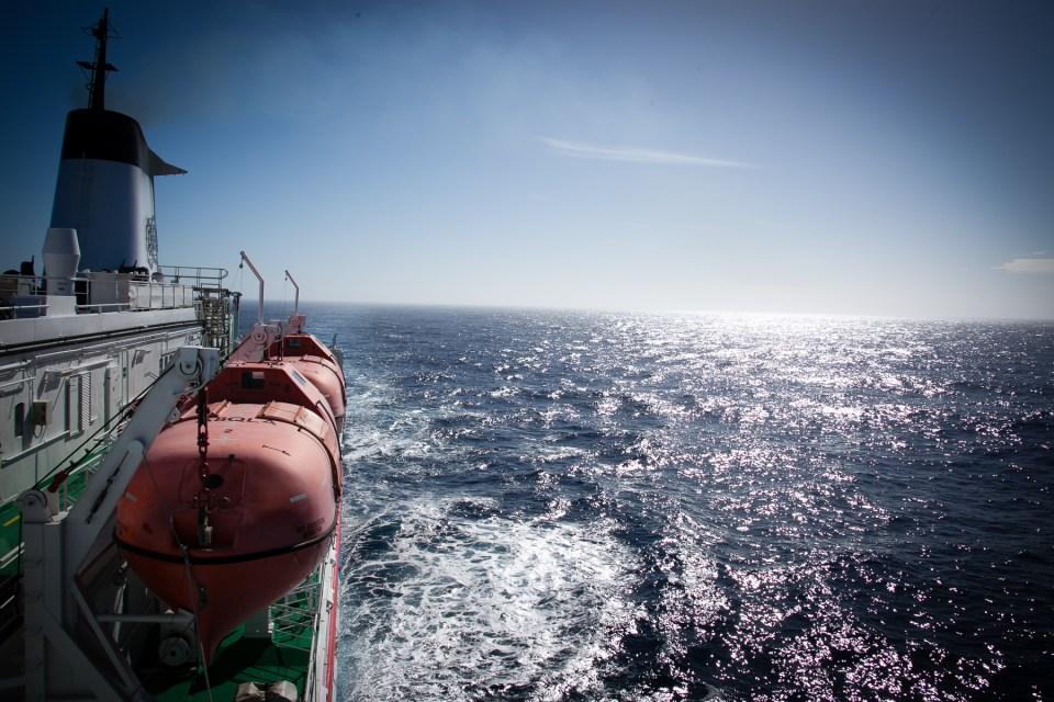 Sonnenwetter in der Drake-Passage