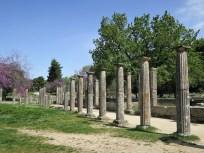 Säulen-Reihe Gäste-Haus