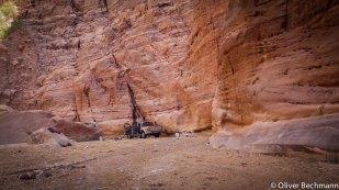 Autowaschen im Wadi
