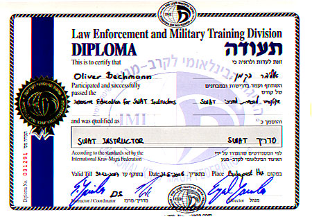 SWAT-IC-Diploma Oliver Bechmann