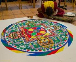 Arbeiten am Mandala
