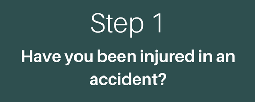 STEP 1 HAVE YOU BEEN INJURED?